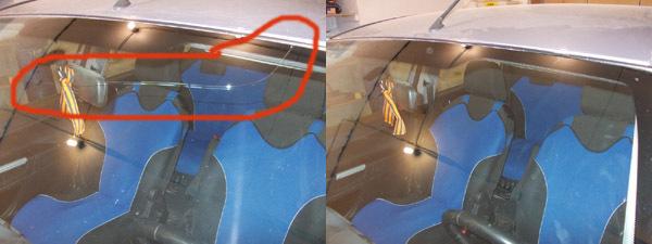 Как заклеить лобовое стекло автомобиля своими руками